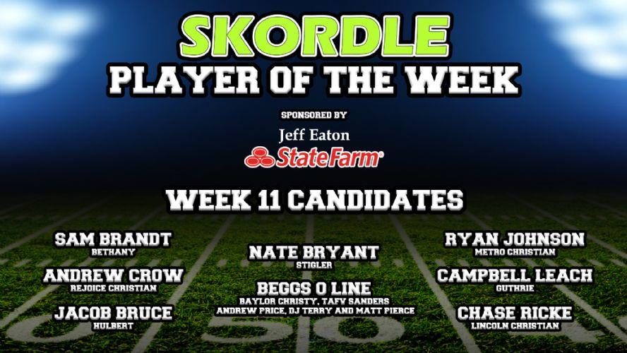 Week 11 Player of the Week Poll