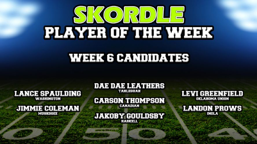 Week 6 Player of the Week Poll